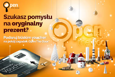 Voucher do escape roomu na prezent Bożonarodzeniowy - openthedoor.at